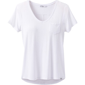 Prana Foundation Short Sleeve V Neck Shirt Women white